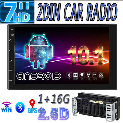 AU132.99 • Buy Android 10.1 7 Inch 2 DIN Car Stereo MP5 Player WiFi GPS FM Radio USB Head Unit