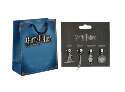 £2.99 • Buy Official Harry Potter Dobby, Sorting Hat, Feather Charm Set With Gift Bag