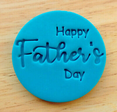 £5 • Buy Happy Father's Day Cookie Stamp, Fondant Embosser - 3061
