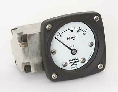 $458.99 • Buy MIDWEST INSTRUMENT 142-SA-00-OO-20H Pressure Gauge,0 To 20 In H2O