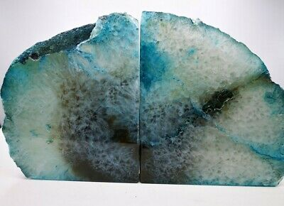 £42.99 • Buy Stunning Heavy Large Green Dyed  Agate Geode Bookends Healing Crystal