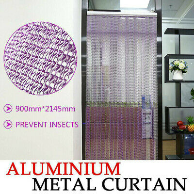 Metal Chain Fly Insect  Door Screen Curtain Pest Control Purple 214x90CM UK • 33£