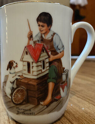 $ CDN6.23 • Buy Norman Rockwell Museum A Dollhouse For Sis Vintage Coffee Mug Cup