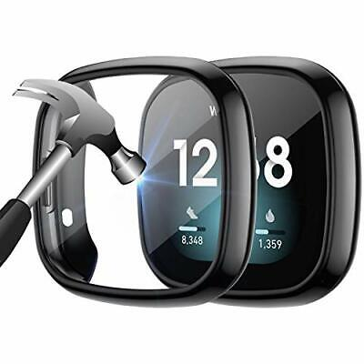 $ CDN16.85 • Buy 2-Pack Case Built In 9H Tempered Glass Screen Protector For Fitbit Sense/Versa 3