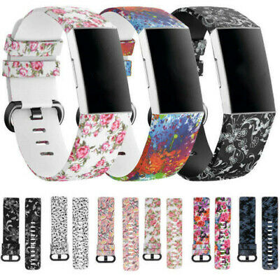 $ CDN4.62 • Buy Soft Strap For Fitbit Charge 3/4 Bracelet Smart Strap Watch Band Sports S/L UK