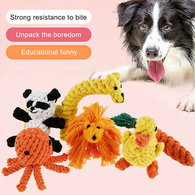 £3.79 • Buy Pet Toys Dog Teeth Dental Cleaner Chew Toy Braided Rope Indestructible Gifts New