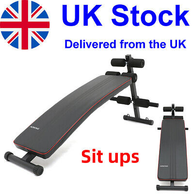 £29.99 • Buy Decline Sit Up Bench Ab Muscles Home Fitness Training Board Exercise Equipment