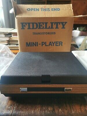 £76 • Buy Fidelity Transitorised Mini Record Player, Used In Full Working Order
