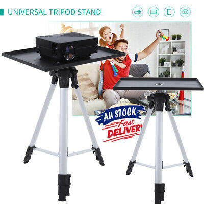 AU42.69 • Buy Projector Tripod Stand Aluminium Adjustable For Laptop + Tray 53-136cm Height
