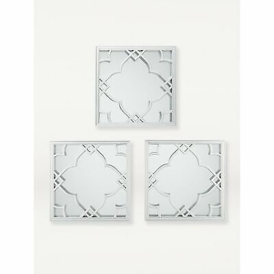£13.03 • Buy Silver Moroccan Tile Mirrors 3-Pack