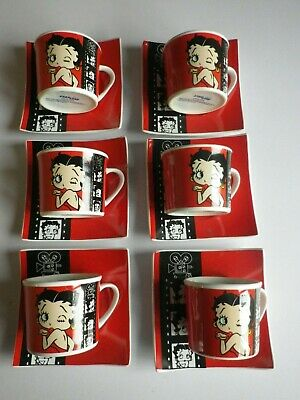 £59.99 • Buy Betty Boop Expresso Coffee Cup And Saucers X 6