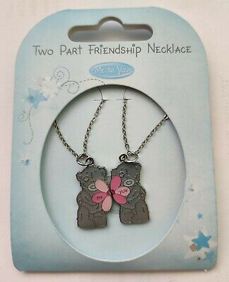 £3.50 • Buy New Me To You Two Part Friendship Necklace Tatty Teddy Bear Flowers
