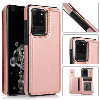 AU4.99 • Buy Leather Flip Card Slot Stand Case For Samsung S21 S20 Note 20 Ultra S10 S9 S8 S7