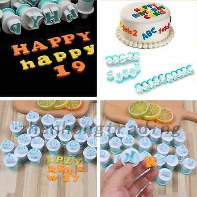 AU12.99 • Buy 26 Alphabet Letter Number Fondant Cake Biscuit Baking Mould Cookie Cutters Stamp
