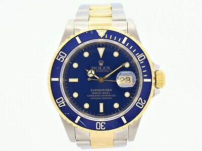 $ CDN14556.62 • Buy Rolex Submariner Date Automatic Steel & Gold Blue Dial Full Set Ref.16613