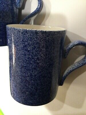 £9.34 • Buy Pair 2 Chatsford England Mugs London Tea Company Cups Beakers Blue Speckled