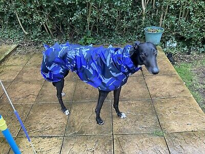 Waterproof Dog Jacket With Snood In Urban Blue Camouflage Size XL • 30£