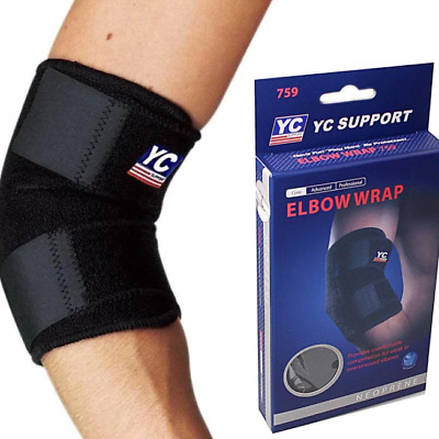 £3.19 • Buy Tennis ELBOW SUPPORT Brace Sleeve Golfer's Strap Epicondylitis Clasp Lateral GYM