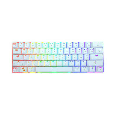 AU53.99 • Buy Mini Portable 60% Wired Bluetooth RGB Backlit Mechanical Gaming Keyboard For PC