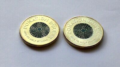 AU4.25 • Buy 2020 $1 - X 2 - DONATION DOLLAR - ABOUT UNCIRCULATED - VERY BRIGHT LUSTRE COINS