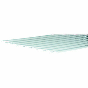 £21.99 • Buy Clear Corrugated Sheet 660 X 2400mm Corrugated Plastic Roofing PVCu