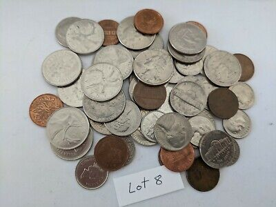 AU9.50 • Buy 200 Grams Mixed American Coins (Lot 8)   Free Shipping   America   Canada