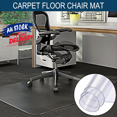 AU26.95 • Buy 120x90CM Floor Protection Pads Chair Mats Office Home Computer Work Carpet ACB#