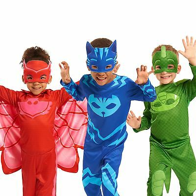 Official PJ Masks Child Costume Jumpsuit & Mask Fancy Dress Boys Girls Outfit • 11.99£