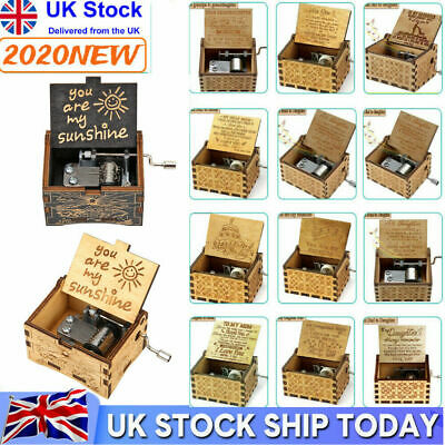 £5.59 • Buy Wooden Engraved Music Box - You Are My Sunshine -Xmas Gift For Family Friends-UK