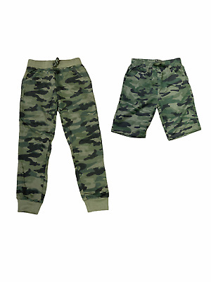 £3.99 • Buy Boys Kids Camo Camouflage Jogging Shorts Sports Tracksuit Bottoms Joggers Army