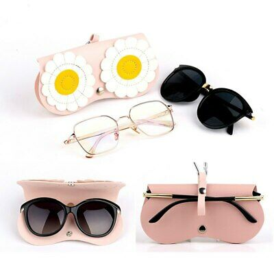 Travel Cartoon Flower Glasses Bag Protection Sunglasses Leather Box Pouch • 5.99£