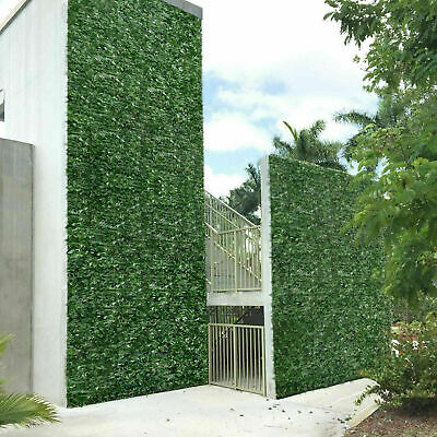 £26.99 • Buy Artificial Faux Ivy Leaf Hedge Panels Roll Privacy Screening Garden Fence Decor