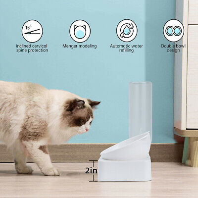 Pet Food Or Water Fountain Dispenser Dog Cat Dish Bowl Feeder Automatic Drinker • 11.69£