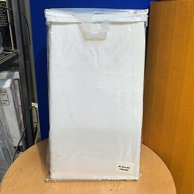 Euro Double 140cm X 200cm Ikea Size Easycare Polycotton White Fitted Sheet • 5.99£