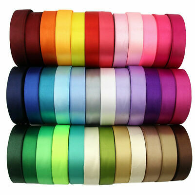 £1.19 • Buy Satin Ribbon Double Sided Various Colours Widths Lengths Craft Sewing Cake Craft