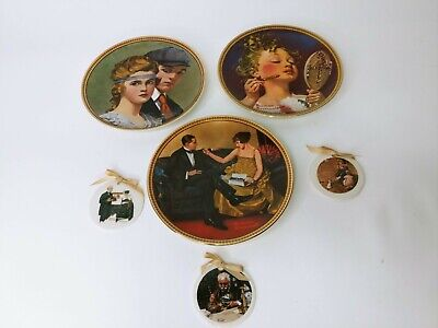 $ CDN24.89 • Buy Lot Of 6 Knowels Norman Rockwell Plates And Ornaments!