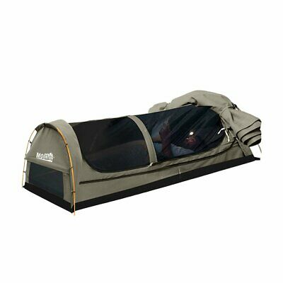 AU189 • Buy Mountview King Single Swag Camping Swags Canvas Dome Tent Hiking Mattress Grey