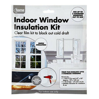 £2.84 • Buy Window Insulation Kit Shrink Fit Double Glazing Film Draught Excluder Frost Cold