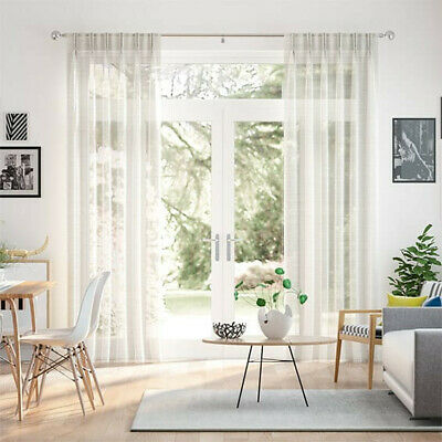 £50 • Buy  Madagascar Voile Neutral Curtains (New - Unused) Double Pinch Pleat - £150 RRP