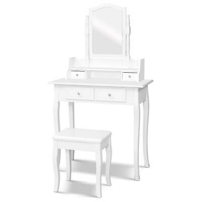 AU143.55 • Buy Dressing Table Stool Mirror Jewellery Cabinet White Tables Drawers Box Organizer