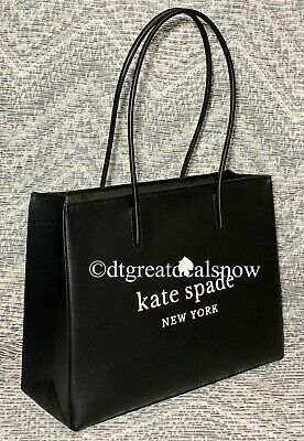 $ CDN224.31 • Buy New Kate Spade Trista Leather Large Shopper Tote Black Wkr00382 $379