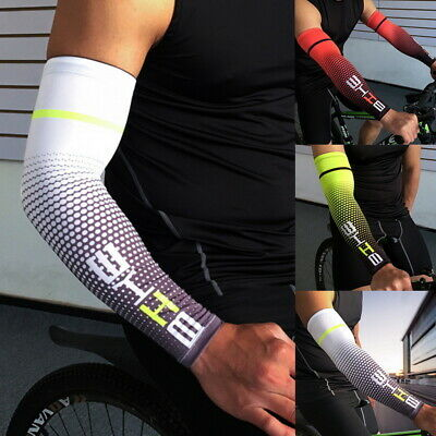Arm Sleeves Cover Basketball Cycling Golf Sport UV Sun-Protect Cooling • 2.99£