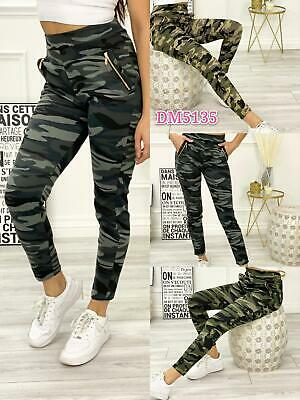 £7.99 • Buy Ladies Womens Trousers Jogging Legging Bottoms Camo Jeggings Slim Joggers New