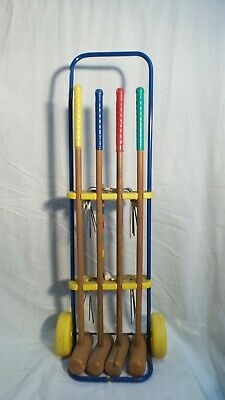 Charming CHILDS 1950's French Vintage Croquet Set On WHEELS  • 55£