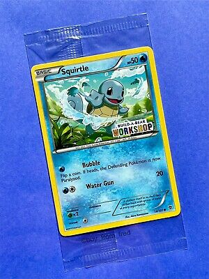 $34.95 • Buy Build A Bear Pokemon Card Squirtle Promo Trading 14/101 2013 SEALED NEW