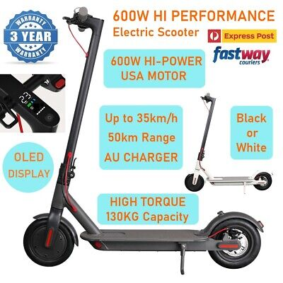 AU579.95 • Buy NEW 600W PRO Model Electric Scooter 50km 8.5inch 35km/h Portable Foldable Bike
