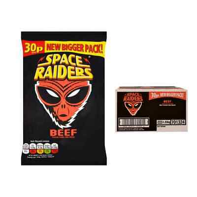 £18.99 • Buy Full Box Of 36 Packs X 25g Beef Flavour Space Raiders Crisps Corn Snack