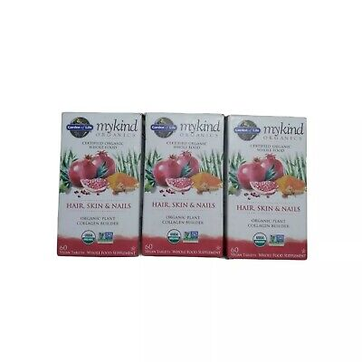 $25.99 • Buy Garden Of Life MyKind Organics Hair Skin & Nails Supplement 05/2021 Lot Of 3 New