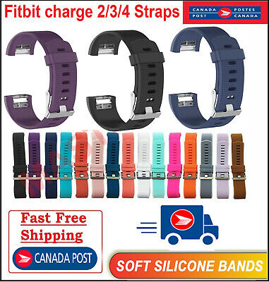 $ CDN6.79 • Buy For Fitbit Charge 2 3 4 Band Replacement Wrist Strap Silicone Smart Watch Band