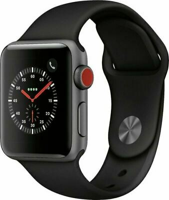 $ CDN206.20 • Buy Apple Watch Series 3 38mm GPS + Cellular Black Sport Band (SRATCHED) Space Gray